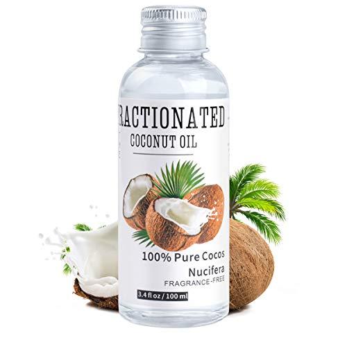 Reines Flüssiges Kokosöl, Yvonnesly Make up Entferner Öl Pflegeöl Gesichtpflege Natürliches Massageöl Coconut Oil Basisöl für Gesicht Körper Haut Haare 100ml
