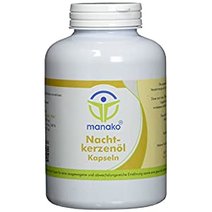 manako Nachtkerzenöl Kapseln, 400 Stück, Dose a 272 g