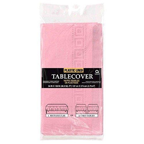 Einfarbige Papier-Tischdecke 137 x 274 cm rosa