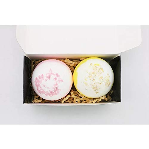 Bath Bomb - Set of 2 Effervescent Bath Salt, Natural Essential Oils, Body Relaxer, Hydrating Effect, SPA of Aromatherapy