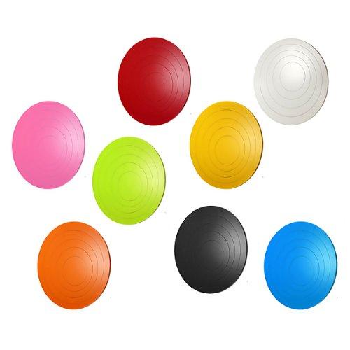 Preisvergleich Produktbild Bluelover 8 Farben 5Pcs Kreise kreative Stereo-abnehmbare 3D DIY Wandtattoo-Orange