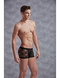 Herren Boxershorts aus Spitze Schwarz S - XXL Doreanse Größe Large