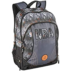 Sac à Dos NBA Gris 2 Compartiments - L 33 cm