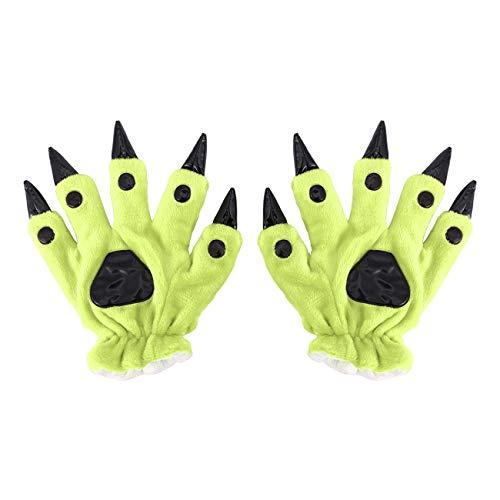 Jiobapiongxin Warme Handschuhe Flanell-Cartoon-Tiergreifer-Dinosaurier-Handschuhe Warm Keeping Fäustling