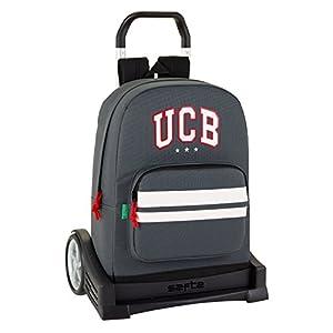 Ucb benetton mochila con carro ruedas evolution, trolley.