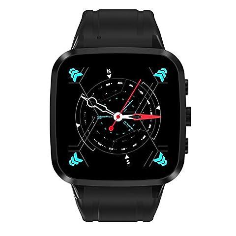 2017 N8 Smart Watch HD Kamera Big Screen Herzfrequenz Schlaf Monitor 3G Android5.1 Wifi GPS Positionierung Telefon Uhr , black