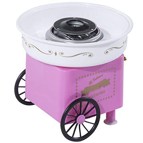 HOMCOM Zuckerwattemaschine Pink