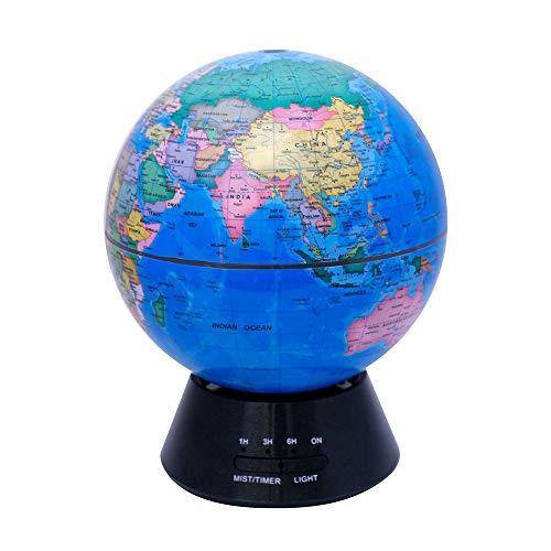 Swivel Globe Glühende Weltkugel, 3-in-1 Erdkugel und Konstellation Eingebaute LED-Beleuchtung Nachtszene Leise Schlafzimmer Ultraschall-Luftreiniger Bildung Weltkugel Geschenk Familie Schreibtisch Dek
