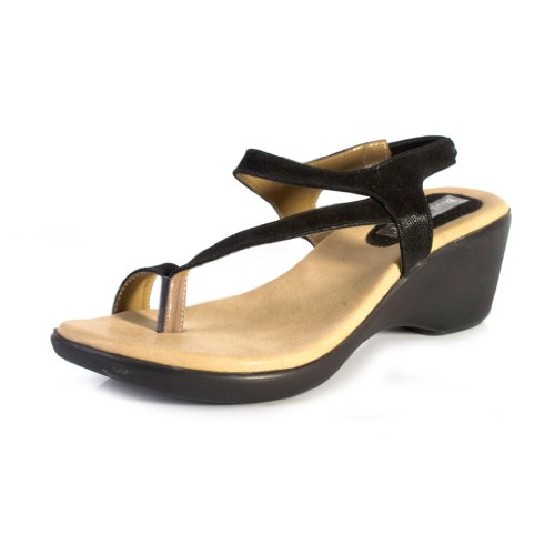 Blue-Beauty-Womens-Black-Synthetic-Casual-Wedges