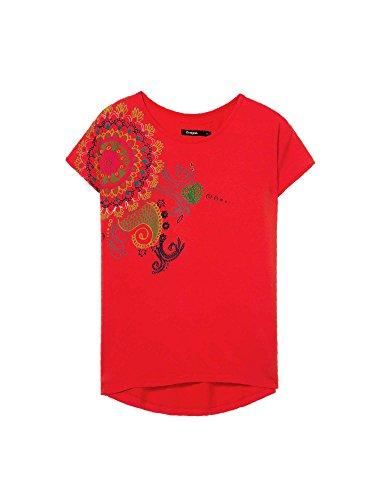 Desigual 18SWTKDM Jersey Mujeres Rojo S