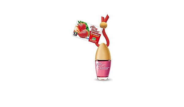 Air Natur 5 Stück Stylische Duftflakons Fürs Auto Und Zuhause Autoduft Raumduft Lufterfrischer Strawberry Erdbeere Auto