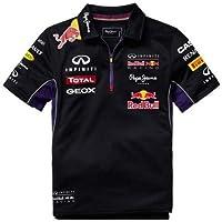 Red Bull Racing Teamline Polo para Niños, Azul/Rojo, 8 años