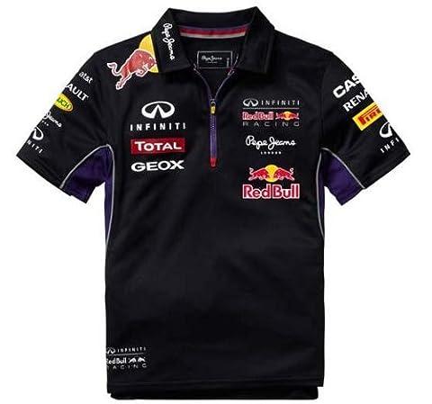 Red Bull Racing Teamline Polo pour Enfant, Bleu/Rouge, 14 ans