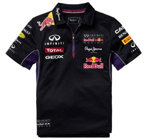 red-bull-racing-teamline-polo-para-ninos-azul-rojo-8-anos