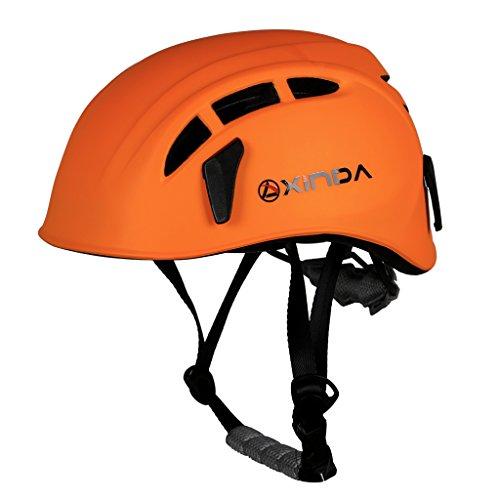 Magideal sicurezza casco per arrampicata albero speleologia kayak rappel soccorso elmetto salvataggio testa protezione - arancione