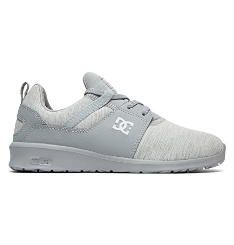 DC Shoes Damen Heathrow TX SE Sneaker, Grau (Grey/Grey/Grey-Combo Xsss), 37 EU (Dc Sneakers Shoes Athletic)