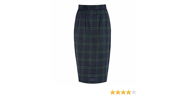 9c3b9dd43a Lindy Bop 'Fontaine' Navy Tartan Pencil Skirt (Size 22): Amazon.co.uk:  Clothing