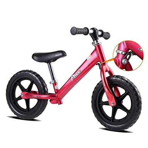 Auto Scivolo Bambino Senza Pedale Equilibrio per Bambini Auto Bambino Yo Auto 2-3-6 Anni in Lega di Alluminio Scooter Bambino,Red