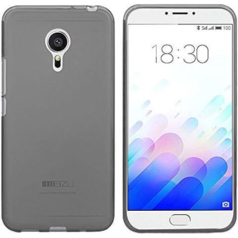 TBOC® Funda de Gel TPU Negra para Meizu M3 Note - Meizu Note3 (Note 3) de Silicona Ultrafina y Flexible