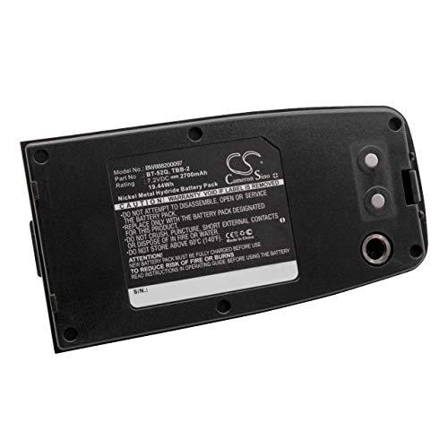 vhbw Akku passend für Topcon GTS-230W, GTS-250, GTS-250 Series Total Station, GTS-330, GTS-332N, GTS230W Messgerät (2700mAh, 7.2V, NiMH)