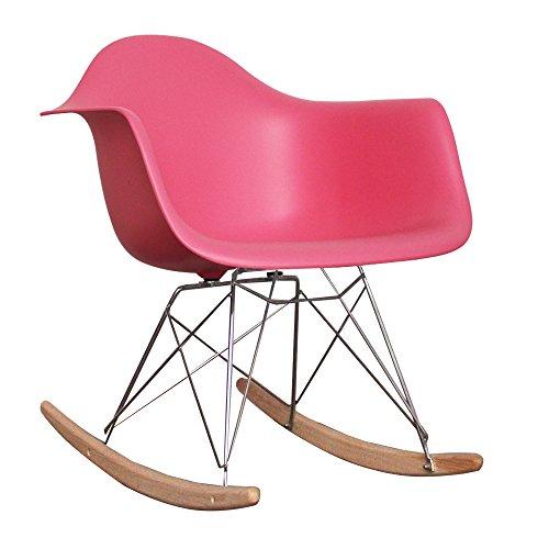Kinder-Schaukelstuhl, von skandinavischem Design inspirierter Retro-Look rose