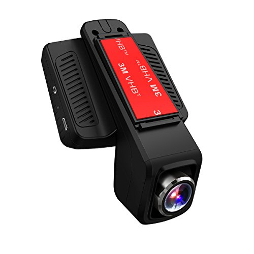 Telecamera per Auto Wi-Fi HD 1080p, visione notturna e lente grandangolare a 170°