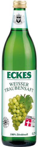 100% Traubensaft (Eckes Weisser Traubensaft - 100% Direktsaft, 6er Pack (6 x 750 ml))