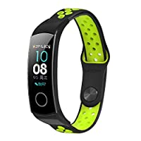 LayTmore Sport Band For Huawei Honor Band 5/4,Soft Silicone Replacement Strap Compatible For Huawei Honor Band 5/4 for woman men