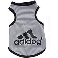 KayMayn Adidog Hundemantel Haustier Mantel Hund Kleider Mantel Kleidung Pullover Haustier Welpen T-Shirt, Verschiedene Größen von (3XL Grau)