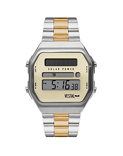 Vestal Men's Syncratic' Quartz Stainless Steel and Alloy Dress Watch (Model: SYNDM04) One Size Silver Toned
