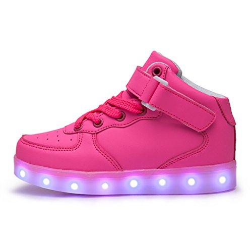 DoGeek Adulto Unisex Scarpe Led Luminosi Sneakers Con Le Luci Accendono Scarpe Sportive Rosa