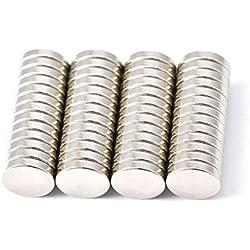 52 pièce Aimant de néodyme 10 mm de diamètre x 2 mm d'épaisseur avec 2.2 kg Traction (lot de 52) Magenesis