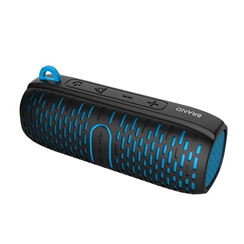 Altsommer Bluetooth Drahtloser Lautsprecher Tragbarer Wasserdichter -10 Drahtloser BT Lautsprecher Outdoor Soundbox 10W Stereo Bass Subwoofer Unterstützung FM Radio TF U Antrieb Aux in w/Mic Gurtband -