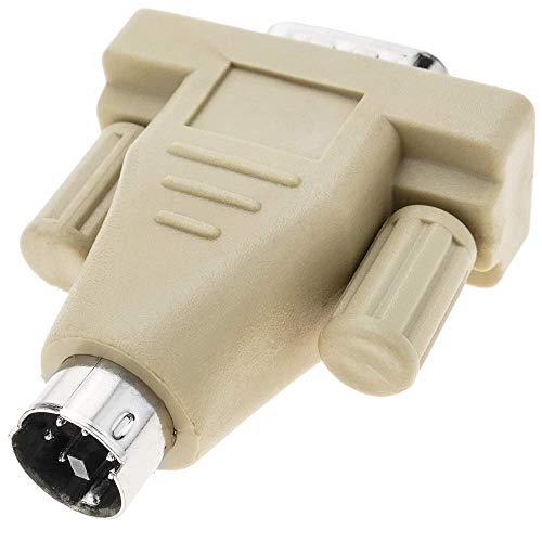BeMatik - Serieller Anschluss Adapter DB9 Stecker zu PS2 miniDIN 6-pin Stecker -