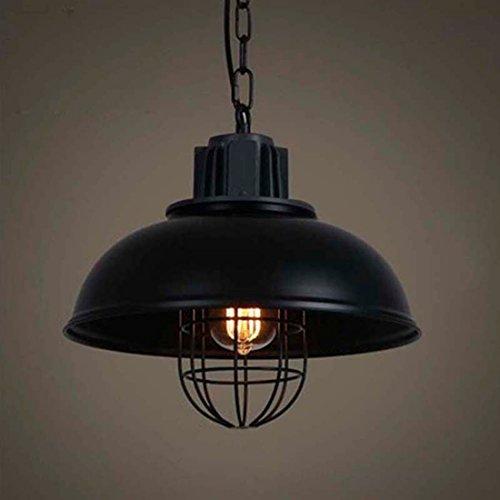 BAYCHEER Lampe Suspensions Lustre Abat-jour en Métal Style Bol avec Grilles Rétro Industriel Eclairage Decoratif
