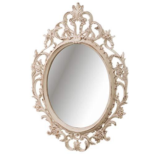 Espejo Cornucopia de plástico Beige clásico para salón de 70 x 50 cm France - LOLAhome