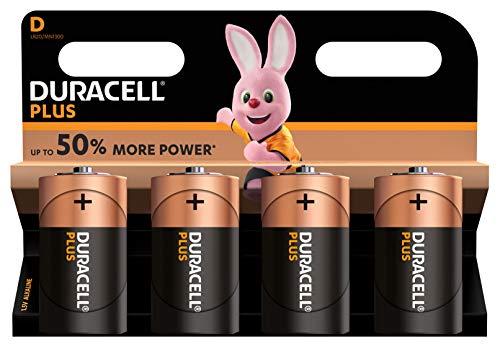 Duracell Plus D Mono Alkaline Batterien LR20, 4er Pack