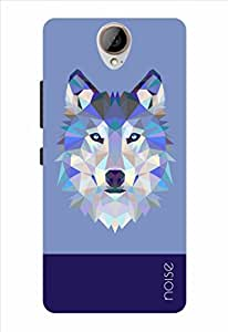 Noise Crystal Werewolf-Blue Printed Cover for HTC One E9 Plus
