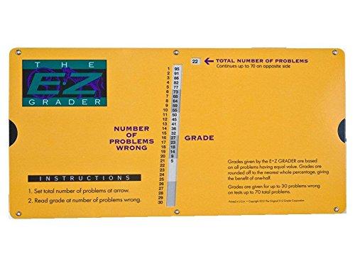 E-Z GRADER 789328700006Einstufung Taschenrechner–Lehrer-Hilfe Punktezählung Diagramm Big Print Edition (gelb)–25,4x 12,7cm