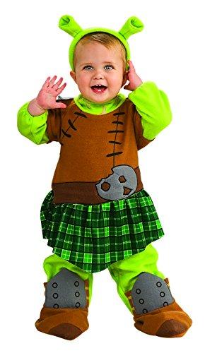 Shrek 4 Fiona Warrior Romper Costume Baby 0-6 - Fiona Kostüm Mädchen