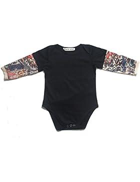 zooarts für 0–24Monate Baby Jungen Tattoo Print Sleeve Strampler Body Outfit Kleidung (schwarz), Baumwollmischung...