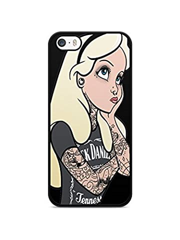 Coque Iphone 7 Disney princesse tatoué case ariel white snow Alice REF10486