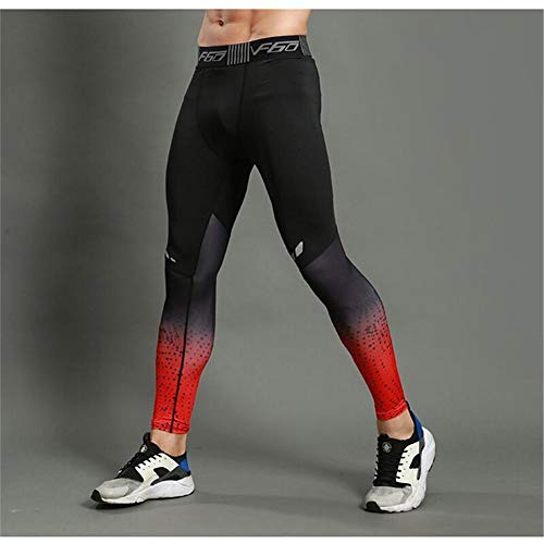 Fitness Leggings Patchwork Stretchy Yogahosen Gymnastik Workout Strumpfhosen Kleidung Atmungsaktive Sporthose Bodybuilding Kompression der Männer 3D Druck Tragen Übung Kleidung Training Cropp (Männer Kleidung übung)