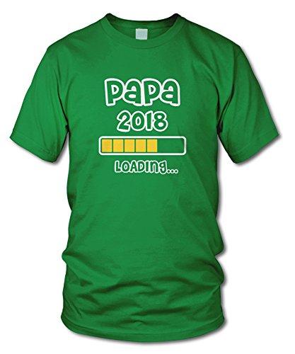 shirtloge - PAPA 2018 LOADING... - KULT - Fun T-Shirt - in verschiedenen Farben - Größe S - XXL Grün