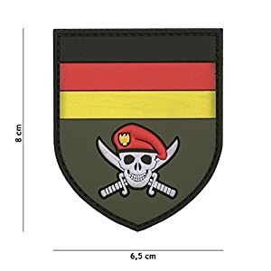 """Patch 3D PVC Bouclier """"Skull Commando"""" Allemagne / Cosplay / Airsoft / Camouflage …"""