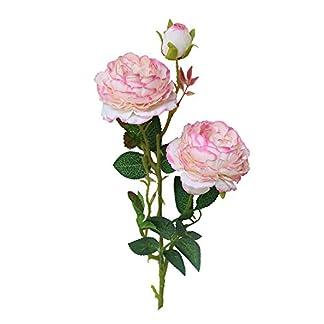 DOGZI Artificiales Peonía Rosa Flores romántico Sosteniendo Flores Flor Falsa Ramo de Novia Boda Partido Decoración del hogar Flores secas Naturales Flores de Tela Regalo de San Valentin