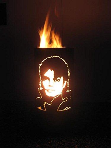 Tiko-Metalldesign Feurtonne/Feuerkorb mit Michael Jackson Motiv