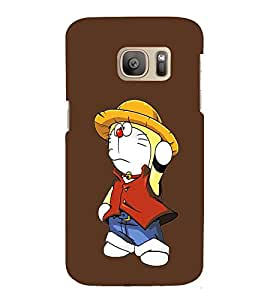 EPICCASE Dorae animated cartoon Mobile Back Case Cover For Samsung Galaxy S7 (Designer Case)