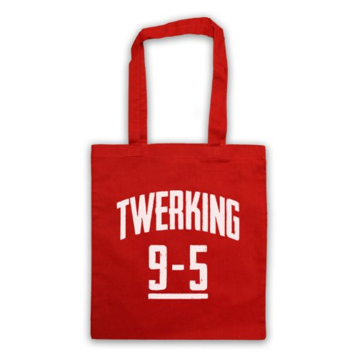 Twerking 9 to 5 Slogan divertente borsa Red