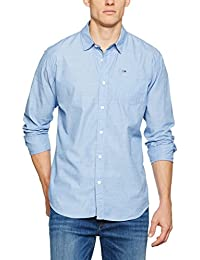 Hilfiger Denim Thdm Basic Solid Shirt L/S 38, Chemise Casual Homme